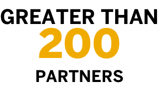 greater than 200 partners