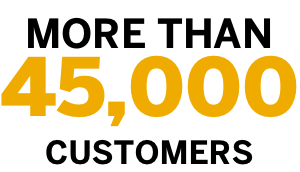 more than 45,000 customers